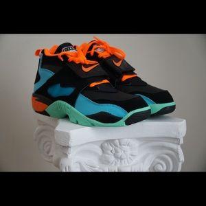 Nike air raid gs black orange blue sneakers
